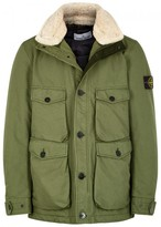 Stone Island David-tc Faux Shearling-trimmed Shell Jacket