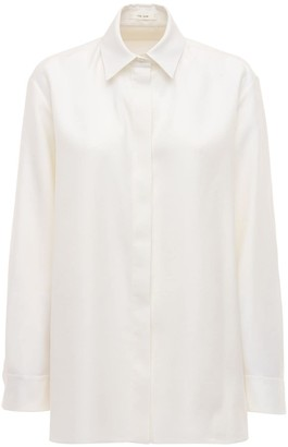 The Row Wool & Raw Silk Blend Shirt