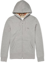 Burberry Slim-Fit Cotton-Blend Jersey Zip-Up Hoodie