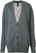 Vera Wang lace back cardigan - women - Silk/Nylon/Spandex/Elastane/Wool - XS