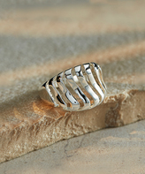Sterling Silver Wave Cutout Ring