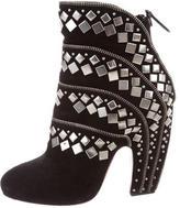 Alaia Suede Stud-Embellished Booties