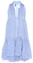 Lisa Marie Fernandez Cotton Seersucker Dress