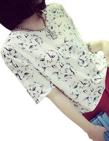 """Only Faith-shirts Only Faith Women Fashion Summer Print Batwing T Shirt Blouses Tops (M(chest: 39.37""""))"""