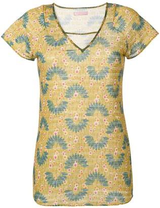Kristina Ti v-neck printed top
