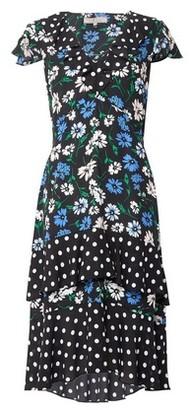 Dorothy Perkins Womens Billie & Blossom Black Ruffle Floral And Spot Print Midi Skater Dress, Black