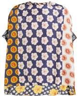 Biyan Swarna Floral-print Silk-faille Blouse - Womens - Yellow Multi