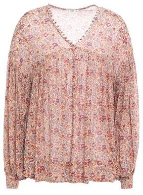 Masscob Nilo Button-detailed Floral-print Silk-georgette Blouse