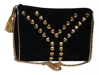 Saint Laurent Black Suede Handbags