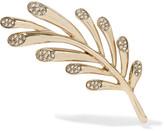 Oscar de la Renta Comet gold-tone crystal brooch