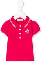 Moncler embroidered logo polo shirt - kids - Cotton/Spandex/Elastane - 3-6 mth