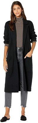 J.Crew Ella Open-Front Long Sweater-Blazer (Black) Women's Sweater