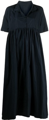 Daniela Gregis Short-Sleeve Flared Midi Dress