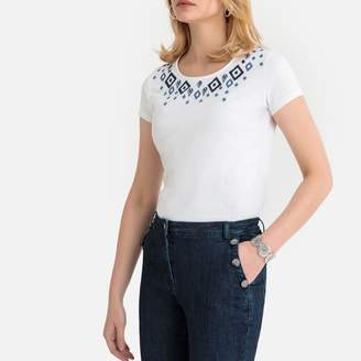 Anne Weyburn Embroidered Short-Sleeved T-Shirt