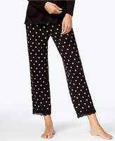 Alfani Lace-Trim Printed Pajama Pants, Created for Macy's