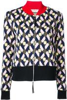 Marni colour-block knitted jacket - women - Cotton/Polyester/Spandex/Elastane - 42