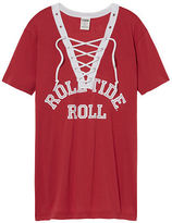 PINK University Of Alabama Lace-up V-neck Tee