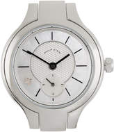 Philip Stein Teslar Stainless Steel Small Round Watch Head, Mother-of-Pearl