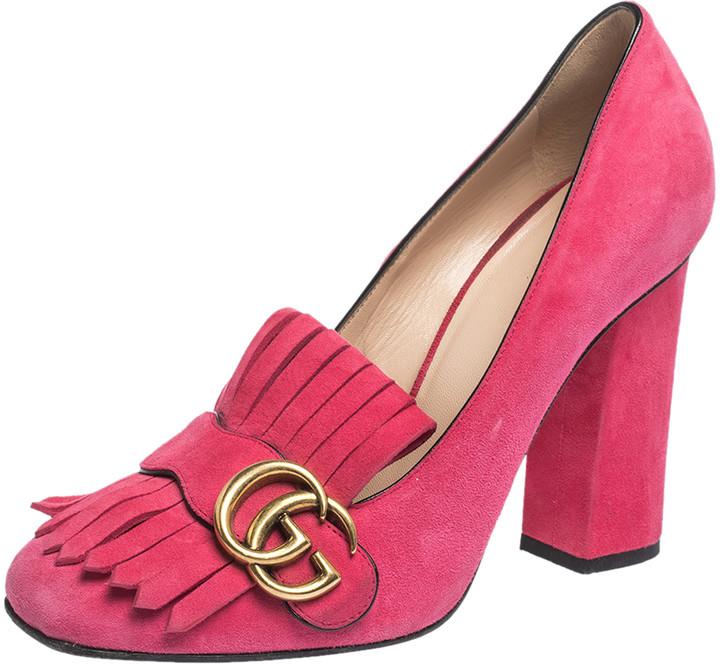 gucci pink high heels