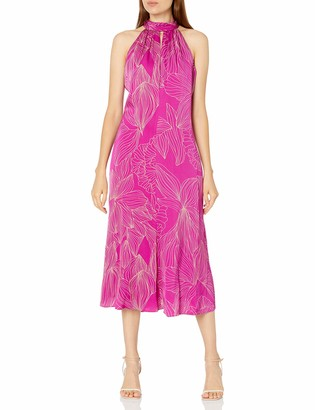 Milly Women's Adrian Hibiscus Floral Viscose Dress