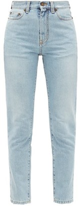 Saint Laurent Distressed Slim-fit Jeans - Womens - Denim