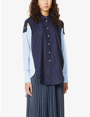 Frenken Oversized cotton-poplin shirt