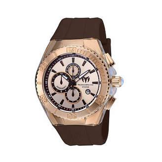 Technomarine Techno Marine Mens Brown Strap Watch-Tm-115217 Family