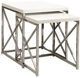 Monarch Two-Piece Crossbar Nesting Table Set