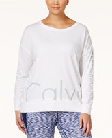 Calvin Klein Plus Size Logo Top