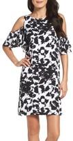 Julia Jordan Women's Cold Shoulder Woven Shift Dress