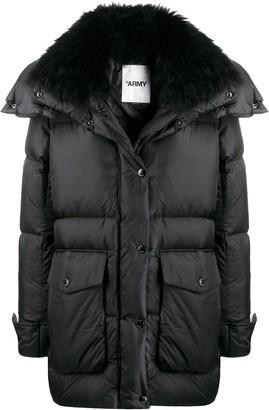 Yves Salomon Spread Collar Coat