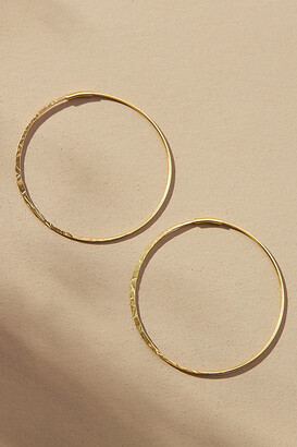 Anthropologie Isabel Medium Hoop Earrings By in Gold Size ALL