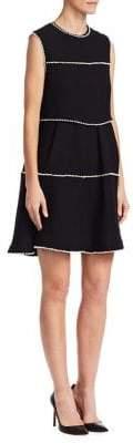 Edward Achour A-Line Ruffle Dress