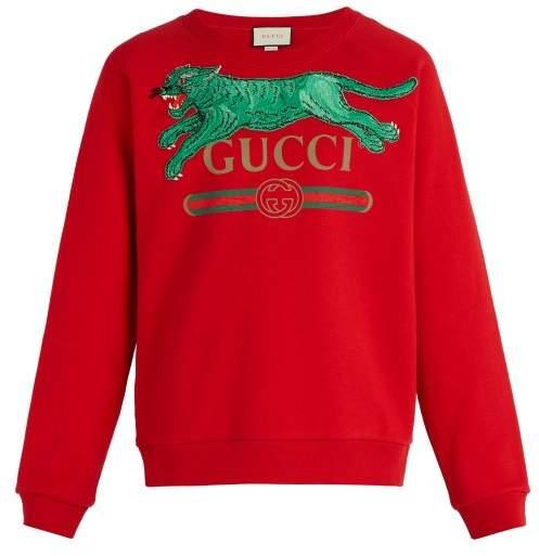 ecd8dd7b117 Gucci Red Men s Sweatshirts - ShopStyle