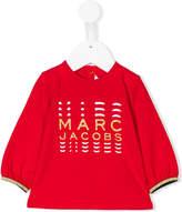 Little Marc Jacobs glittery logo blouse