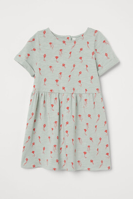 H&M Patterned Jersey Dress - Turquoise