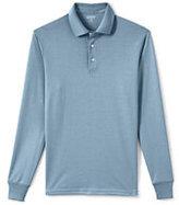 Lands' End Men's Long Sleeve Supima Interlock Polo Shirt-White