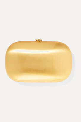 JEFFREY LEVINSON Elina Plus Brushed 18-karat Gold Clutch - One size