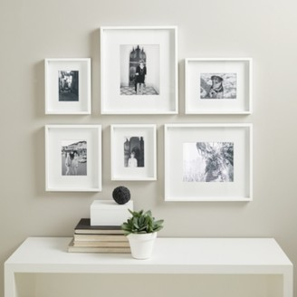 The White Company Picture Gallery Wall Small Photo Frame Set, White, One Size