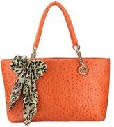 MG Collection Daryl Ostrich Embossed Shopper Tote Handbag Shoulder Bag