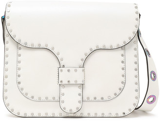 Rebecca Minkoff Studded Iridescent-effect Eyelet-embellished Leather Shoulder Bag
