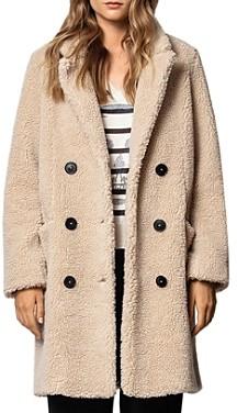 Zadig & Voltaire Mint Teddy-Bear Coat