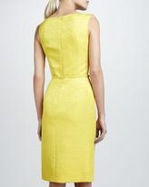 David Meister Sleeveless Bow-Neck Belted Dress