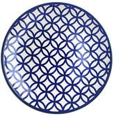 Jay Import Medallion Circles Blue Round Platter