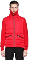 Moncler Wool Knit & Nylon Down Jacket