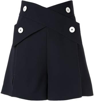 Comme Moi crossover strap shorts