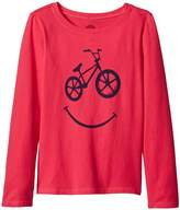 Life is Good BMX Smile Long Sleeve Crusher Tee Girl's T Shirt