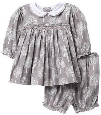Carriage Boutique Long Sleeve Tree Dress (Baby Girls)