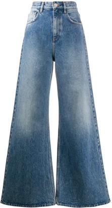 ATTICO Flared High-Rise Jeans