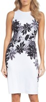 Maggy London Petite Women's Placed Print Scuba Dress